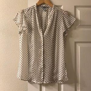 H&M polka dot short sleeve blouse